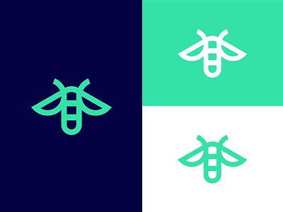 firefly / logo design identity guide light symbol icon logo bug firefly