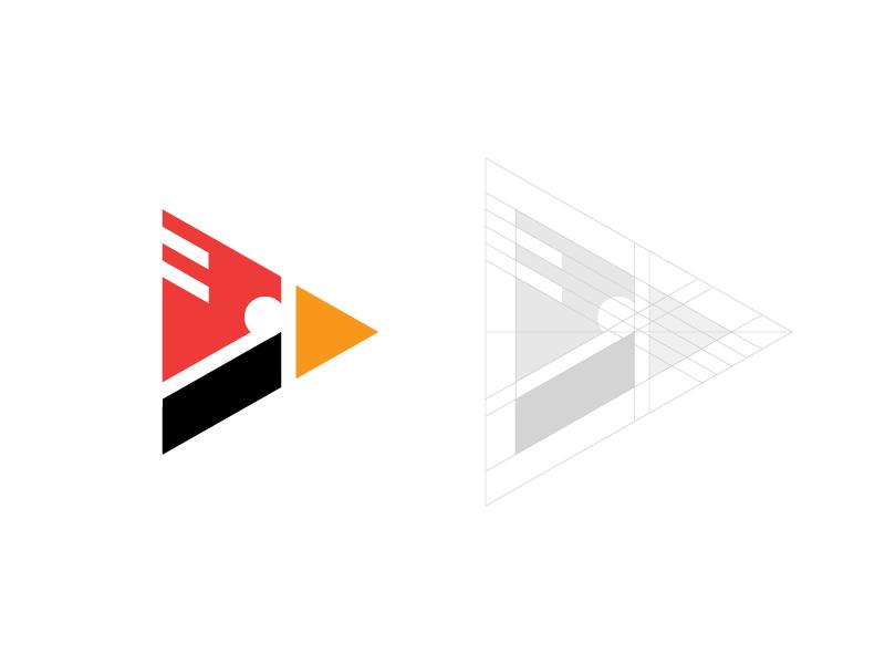 cardinal / media / play / logo design bird music bird logo bird icon geometric logo recording record sound construction geometric guides symbol icon animal media video music play bird cardinal