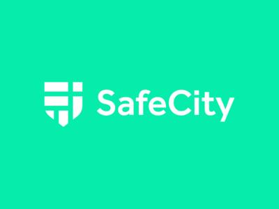 SafeCity / shield / map / logo design