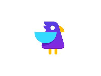 bird / logo design modern art icon geometric logo bird logo subtle gradient wings mascot identity modern eagle friendly cute bird
