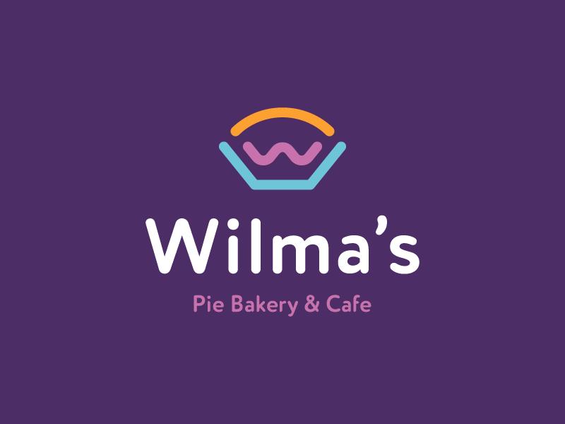 wilma's / W / bakery / logo design monoline logo branding cafe restaurant food bake pie bakery w
