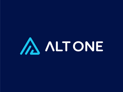 Alt One / logo design strategy news feed abstract design ethereum bitcoin crypto wallet cryptocoin digital 2d blockchain crypto a data cryptocurrency lettermark digital symbol alt information identity branding