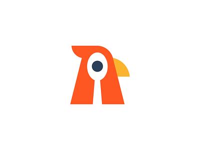 Bird / food / logo design negative space logo bird spoon food