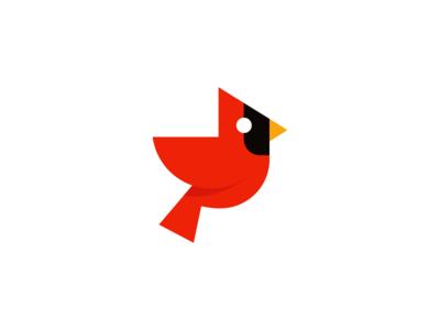cardinal / logo design deividas bielskis animal logo designer iconic branding logo flat geometric wings red bird logo bird cardinal