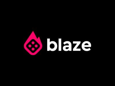 Blaze / logo design deividas bielskis poker modern logo bold possibility chance risk branding gaming blaze sharp flame fire sport app e-sport sport game casino dice gambling