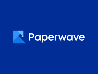 Paperwave / logo design typography fresh billow tide sea minimal modern art golden ratio goldenratio letter p modern iconic water palette origami print waves wave paper