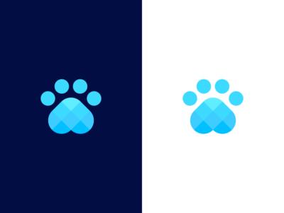 dog paw / logo design programing system tech technology cute friendly iconic logo symbol dog icon abstract coding leg data hound logo software paw dog