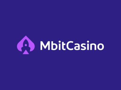 MbitCasino / logo design deividas bielskis poker modern logo branding rocket logo slots negative space rocket launch play game crypto currency crypto spades gambling gamble casino cards blackjack bitcoin