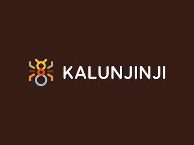 Kalunjinji / ant / logo design kinder kindergarten branding identity africa colors children art children kids connect team social laborious studious diligent animal insect ant