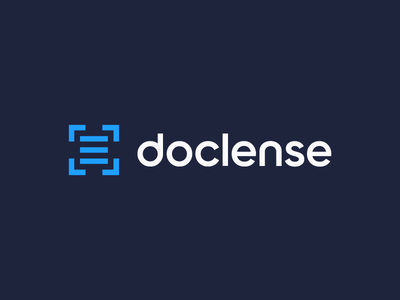 doclense, photo scanner,  logo design custom typography flat type typography logo dock icon doc scanner scan target negative space camera photo frame photo frame documents document doclense