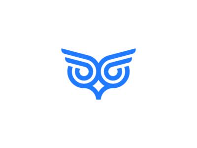 owl / logo design symbol iconic logo iconic minimal flat hook geometric abstract line angry owl owl logo