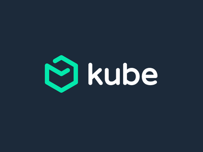 Kube, logo design iconic minimal square 3d kube cube sketch scheme outline arrangement proposal strategy path idea project consult parts connect road consulting