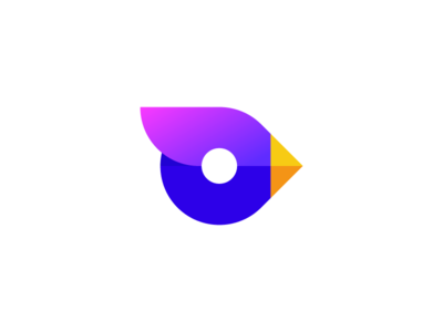 Bird gradient gradients deividas bielskis simple o animal geometric logo blend abstract art fresh colors birdie cute modern sing abstract minimal branding symbol mark logo bird