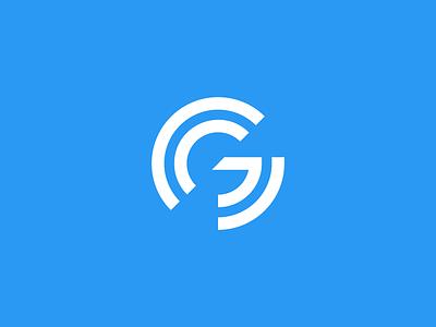 G tech development software design technology modern geometric data abstract lettermark identity mark branding symbol logo