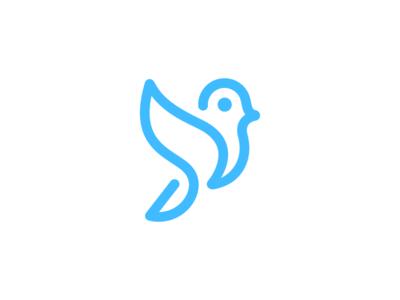 Bird line art freehand monoline wings fly pathfinder deividas bielskis bird modern animal abstract identity mark branding symbol logo