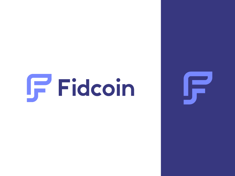 Fidcoin fintech cash money finance startup cryptocurrency crypto f technology icon geometric data abstract lettermark identity mark branding symbol logo
