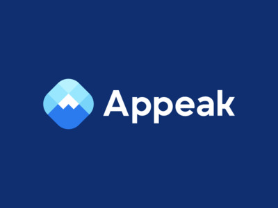 Appeak, logo deign minimalistic logo logo designer productivity modern logo poly input data nature logo app a team management group connect connection mountain peak objetive top