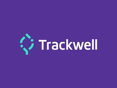 Trackwell leaf data information cannabis wellness health natural gren technology application weed cannabis logo branding