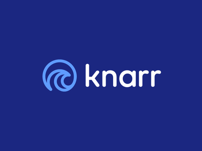 Knarr flat logo branding organic iconic logo startup visual identity data rush stream monoline vector technology ocean sea analytics software water naval surf wave