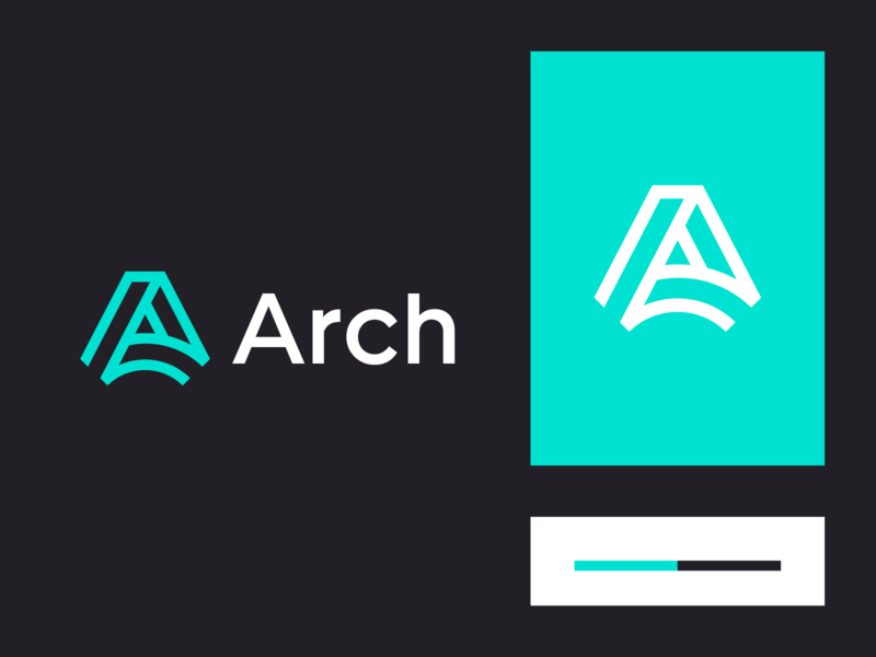 Arch penrose triangle impossible triangle trend logo concept lettermark abstract minimalistic logo logo mark symbol logo mark identity minimal technology tech architecture impossible shape branding logo arch a
