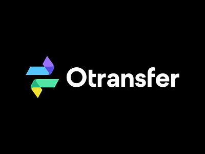 Otransfer by Opera movement minimalist logo minimalistic logo identity branding fintech opera tech modern flat vector logo business arrow arrows transaction money bank finance transfer otransfer