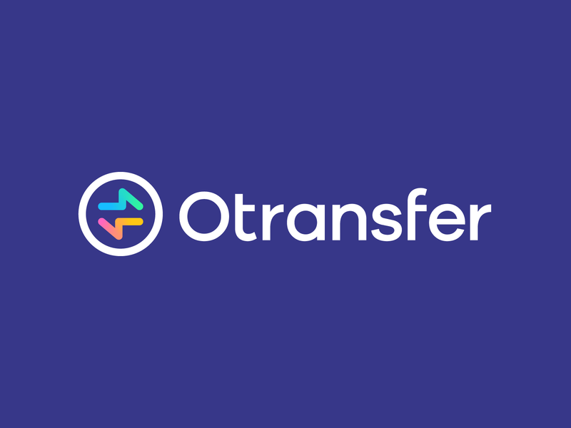 Otransfer by Opera money finance app mark branding identity financial app transaction financial logo gradient gradients arrows transfer