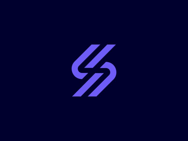 S s typography branding design modern digital identity logo designer logo design tech logo technical technology data b2b connection network seo mark symbol branding logo
