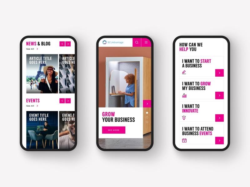 Mobile Views for New Website ui ux responsive design webdesign