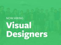 We're hiring Visual Designers