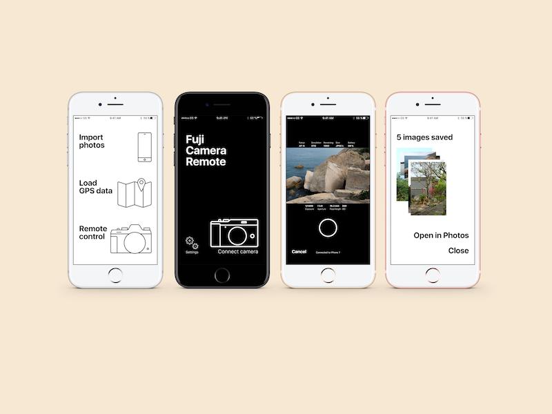 Fuji Camera Remote app redesign