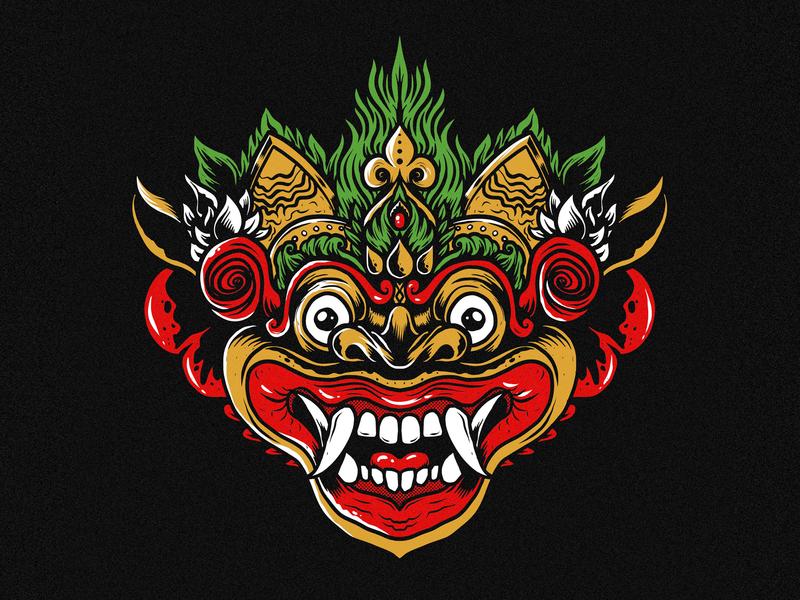 Barong vector mascot tshirt design illustration