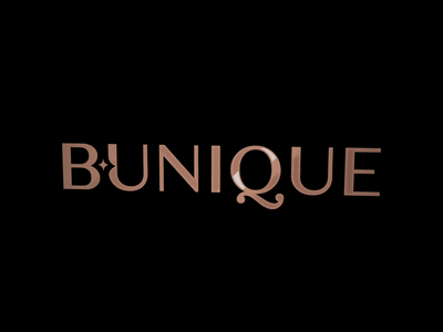 Bunique Logo Animation brand stylist clinic saloon beauty gold motion logotype gif animation branding logo