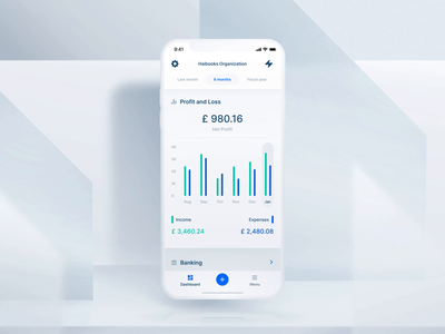 Haibooks: Mobile App Dashboard Animation management dashboard automated report ios ai accountant finance income sales expenses profit business interaction app ux ui mobile