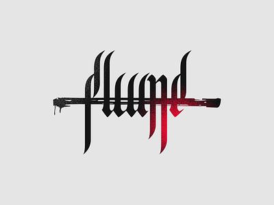 119409 - Flume concept calligraphy typography portfolio street fashion logo brand flume