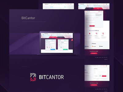 BitCantor bitcoin exchange blockchain cryptocurrency ui deisgn ux design branding interaction design logo