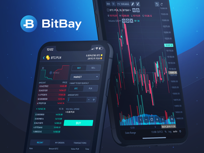 BitBay Mobile App on Behance exchange mobile ux ui blockchain bitcoin portfolio