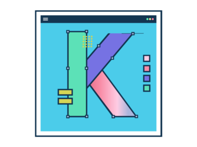 Letter K illustration design