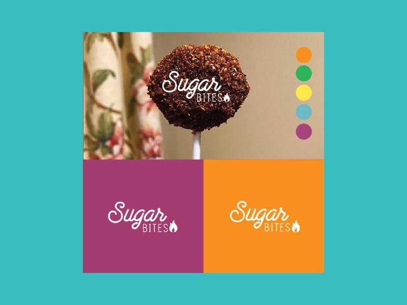 Sugar Bite Mexican Snacks Logo Design latino logo design colorful bites sugar branding mexico