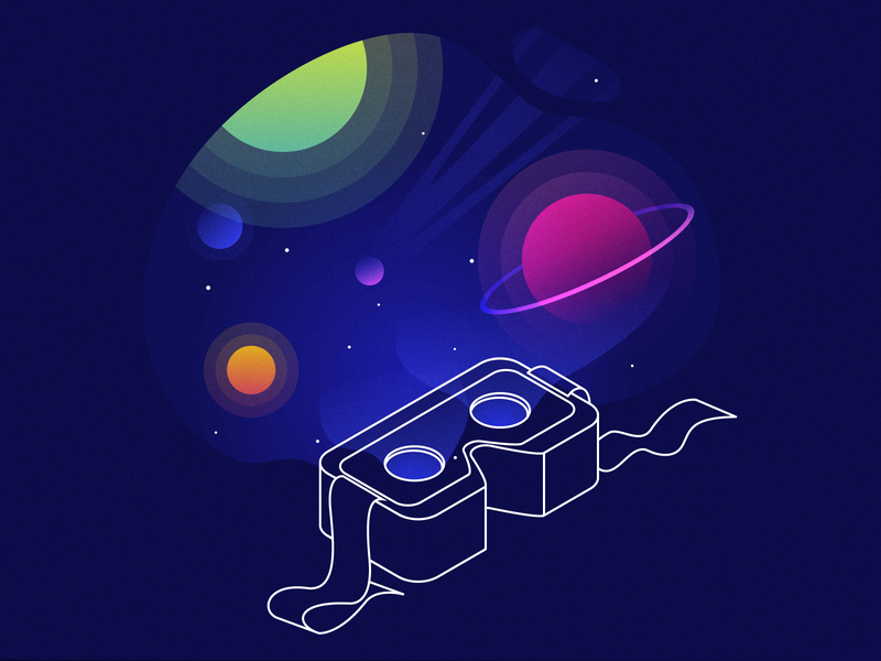 Innovation: Illustration from a set for Fancy Interactive vr innovation virtual reality illustration