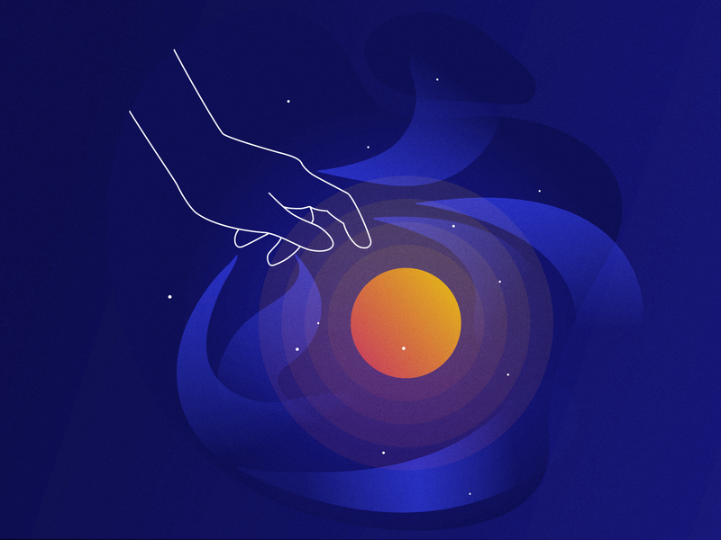 Branding: Illustration from a set for Fancy Interactive magical idea creation branding