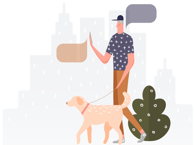 Learn language anytime and everywhere! design characters languages language learning applications character project illustration