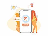 Illustration for mobile application