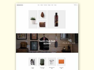 Mondrian Web Shop layout
