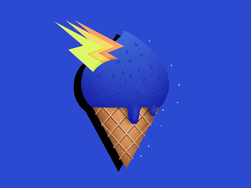 Ice cream ilustración vector thunder ice cream icon logo design digital illustration