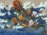 a illustration of the dragon  boat festival