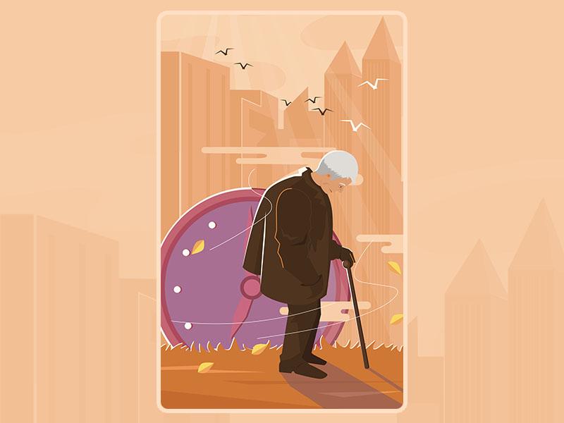 when you are old senior care senior living illustration