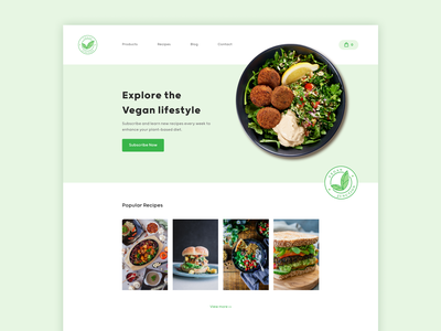 Vegan Junction - Landing Page landingpage vegan webdesign web userexperience userinterface uxdesign uidesign ux ui