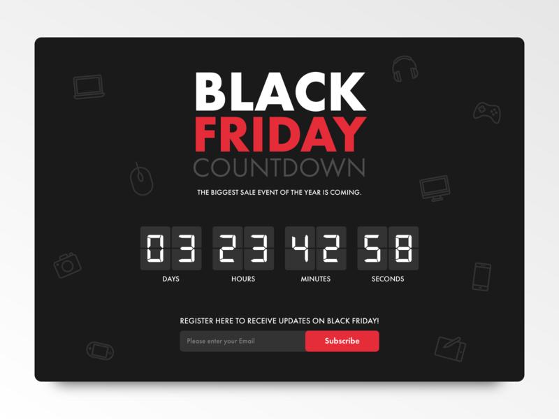 Daily UI 014 Coauntdown Timer webpage web black friday timer countdown countdown timer ux ui dailyui