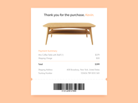 Daily UI 017 Email Receipt