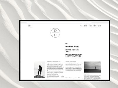 Daniel Gaspard \\ Option #4 uiux ui design personal website interface monochrome minimal fullscreen ui web
